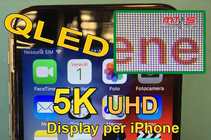 QLED display per iPhone